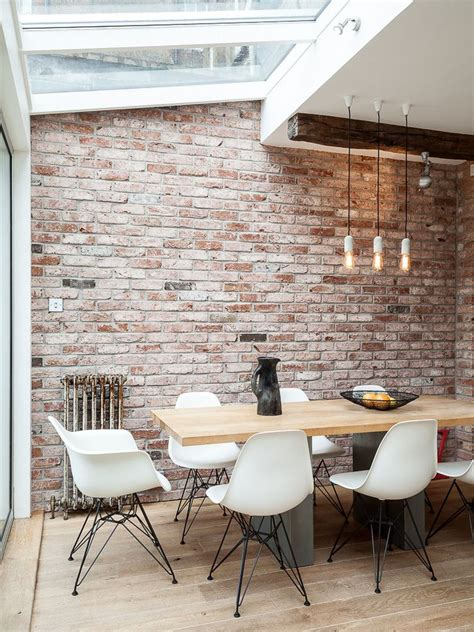 marvelous faux brick panels mode london industrial dining room decoration ideas brick wall distressed wood industrial pendant light nat