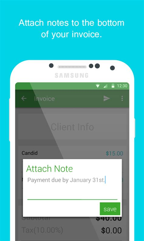 Smart Invoice Email Invoices Android Apps On Google Play Invoice Template For Android Phone