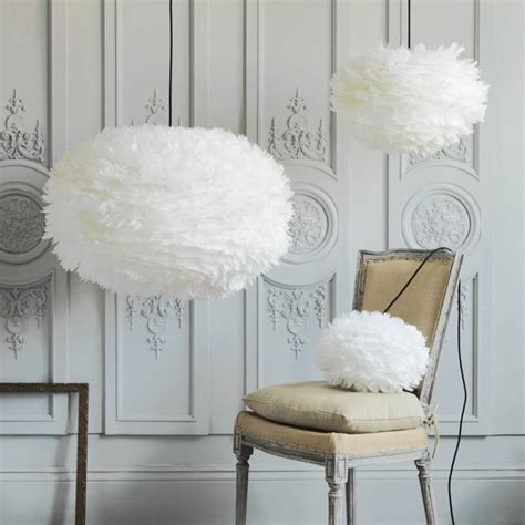 feather lights white feather shades feather lighting vita eos g g uk