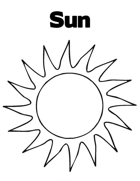 Color Printable Pages free printable sun coloring pages for