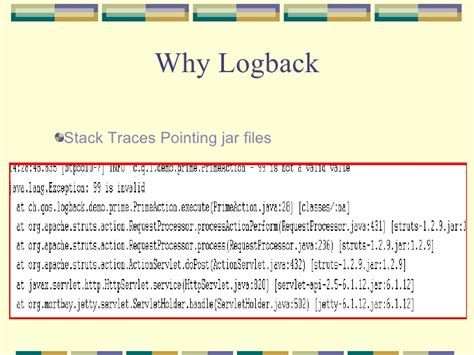 logback xml logback and slf4j