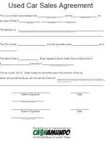 car purchase agreement free word templates
