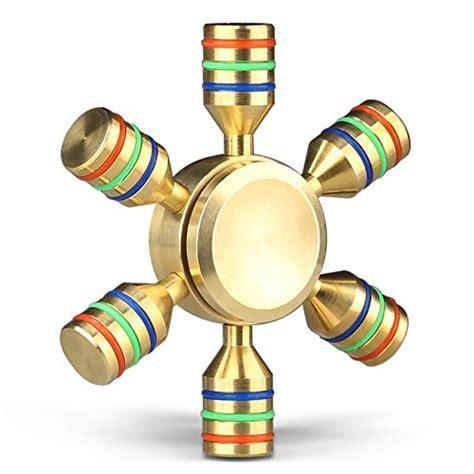 Premium Class Fidget Spinner Metal Shield Shuriken Spinning Moon Nin mothca fidget spinner circular stress reducer gold metal brass finger mute balance