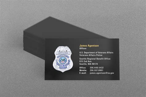 veterans administration business card template federal enforcement business cards kraken design