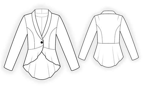 pattern jacket jacket with peplum sewing pattern 4304 made to measure