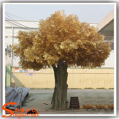 gold artificial tree 2016 fiber glass large artificial decorative tree gold