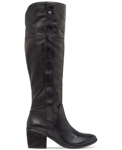 vince camuto black boots vince camuto mordona wide calf boot in black lyst