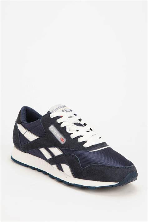 reebok classic running sneaker reebok classic running sneaker in blue navy lyst