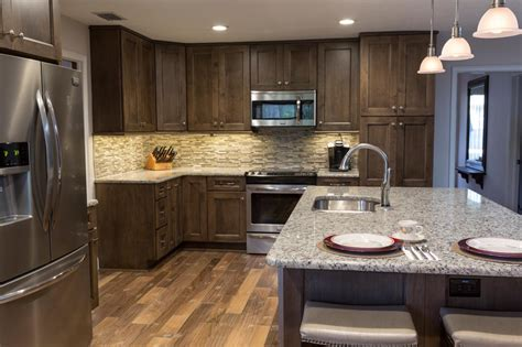 kitchen ideas with stainless steel appliances contemporary kitchen with wood cabinetry and