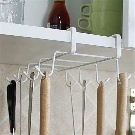 Fashionclubs 8 Hook Under Shelf Mugs Cups Wine Glasses