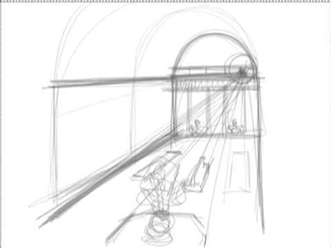 7 Drawing Techniques by Drawing Tutorials One Point Perspective