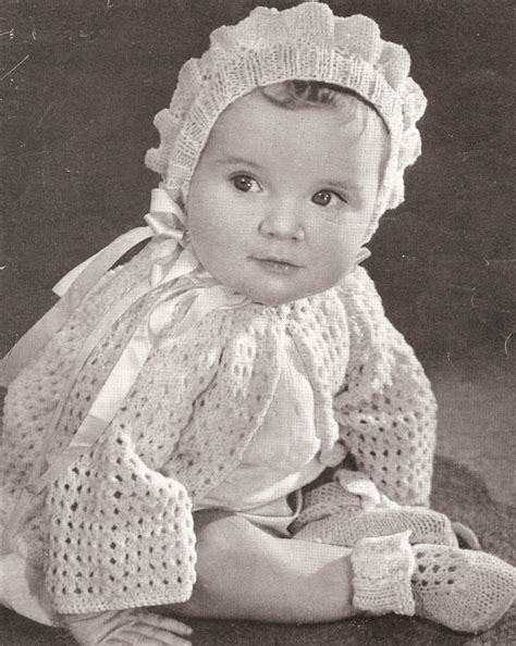 vintage knitting pattern baby bonnet vintage knitting pattern to make baby bonnet sweater