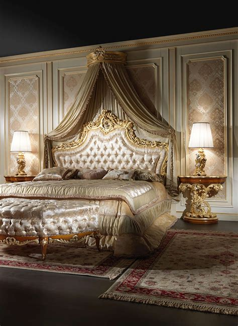 roman upholstery elegant baroque bed vimercati classic furniture