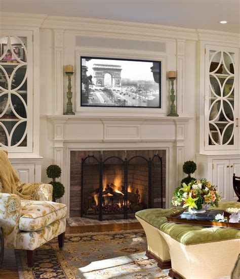 living room mantel ideas placing a tv over your fireplace a do or a don t tvs