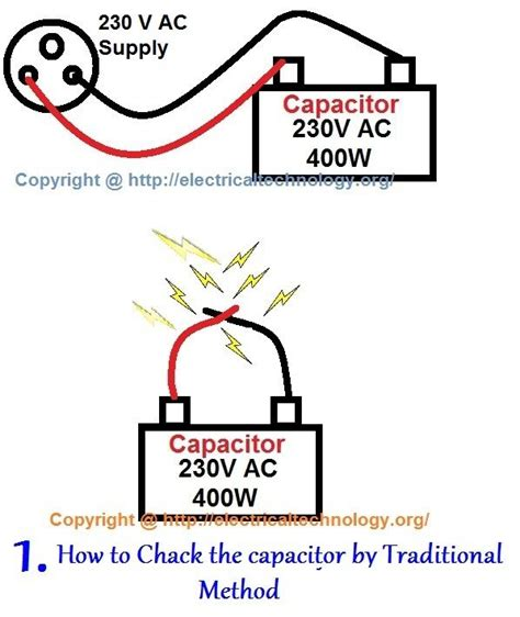 how to check a electrolytic capacitor how to check a capacitor with digital multimeter and analog avo meter four methods pictorial