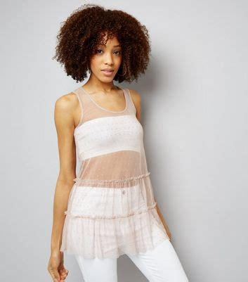 New Look Eyelet Mesh Bralet s sale cheap tops shirts new look
