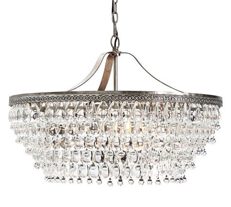 Clarissa Crystal Drop Round Chandelier Pottery Barn Chandelier Droplets