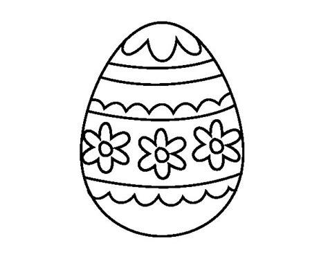 imagenes para pintar huevos de pascua dibujo de huevo de pascua floral para colorear dibujos net