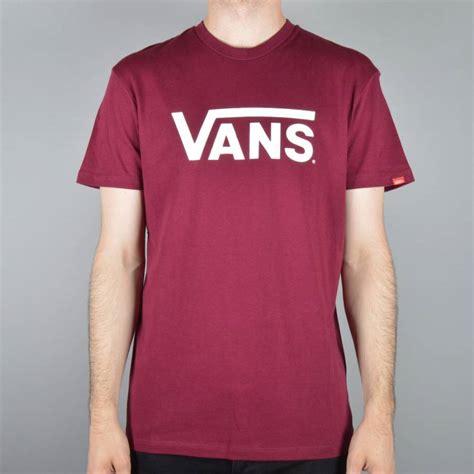 vans classic skate t shirt burgundy vans from skate store uk