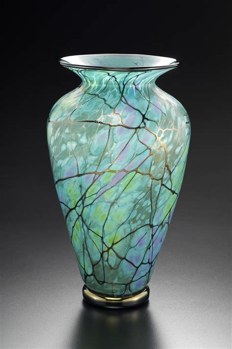 Glass Vases by Serenity Vase By David Lindsay Glass Vase Artful Home