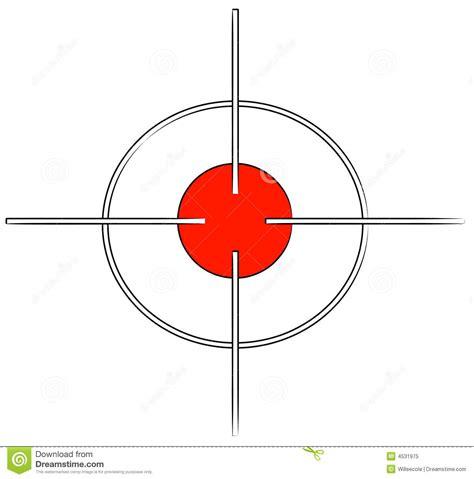 printable crosshair targets cross hair target stock vector image of scope firearm