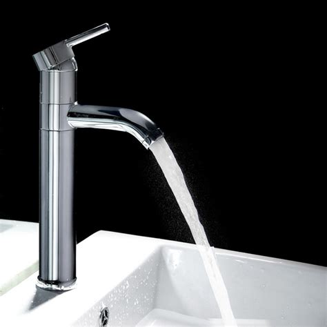 contemporary bathroom fixtures single handle tall bathroom faucet contemporary