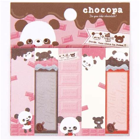 cute Chocopa panda bear Post it bookmark sticker   Sticky