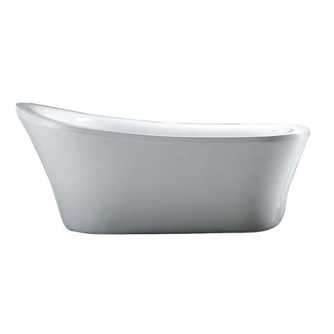 58 Bathtub Home Depot by Schon Aiden 5 8 Ft Reversible Drain Bathtub In White
