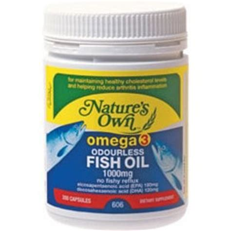 Natures Own Odourless Fish 1000mg 400 Capsules natures own omega 3 odourless fish