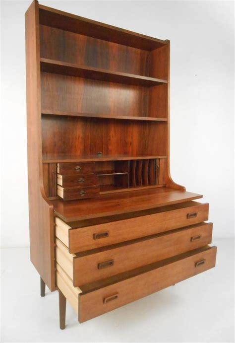 Danish Bookcase Desk In Rosewood At 1stdibs Desk Bookcase