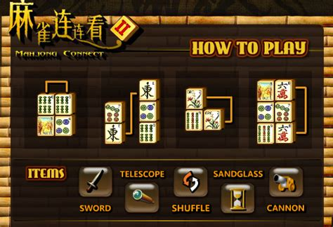 how to play mahjong for play mahjong connect 2 y8