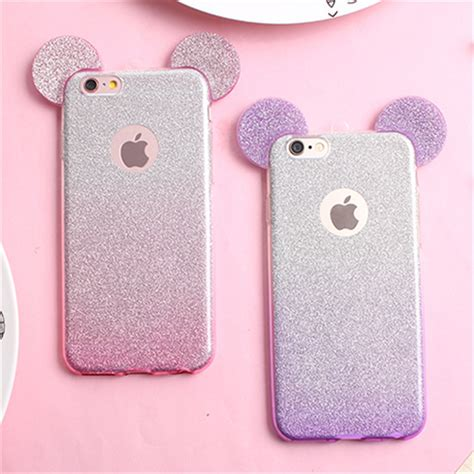 Soft Iphone 6 6s Simple Luxury Shining Cover Tpu ᐂglitter minnie mickey mouse ears ears soft tpu phone