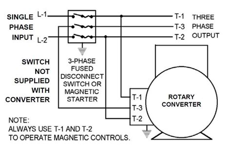 3 phase rotary converter wiring diagram get free image