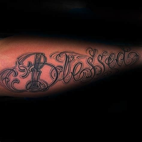 blessed tattoo on forearm blessed tattoos on forearm www pixshark images