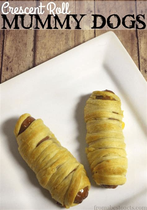 mummy dogs with crescent rolls crescent roll mummy dogs from abcs to acts