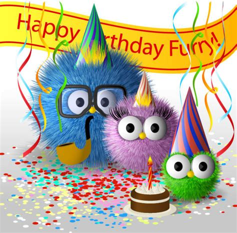 imagenes happy birthday funny funny cartoon happy birthday cards vector free vector in