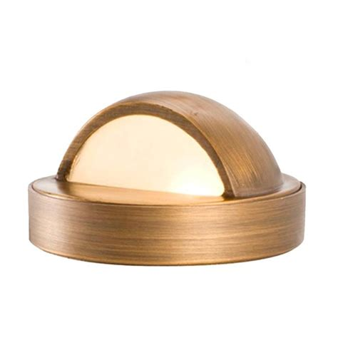 brass outdoor lighting lifetime finish solid brass 12v deck light antique bronze finish volt