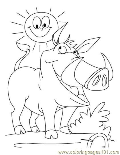 coloring page wild boar coloring page4 mammals gt wild animals