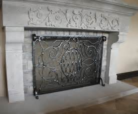 custom fireplace screen forged custom fireplace screens noble forge