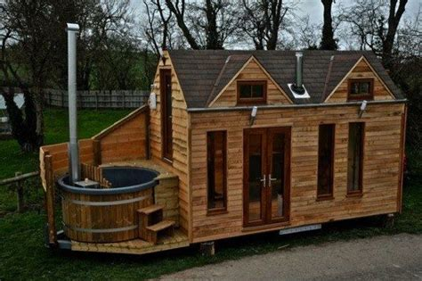 tiny house mobile home man designs builds mobile hot tub tiny house