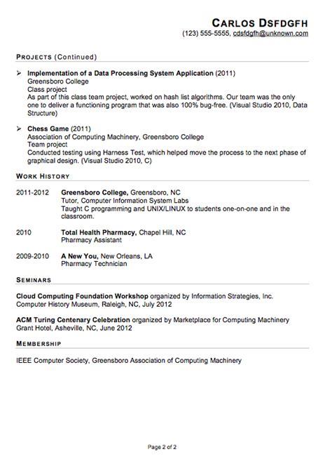 Functional Resume Sample for an IT Internship   Susan