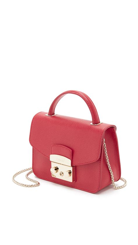 Furlah Bag 1 furla metropolis top handle mini cross bag ruby in lyst