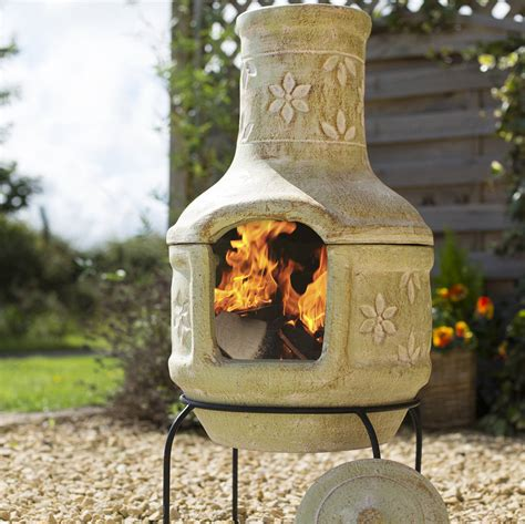 Clay Patio Heater Pizza Flowers Clay Chiminea Patio Heater With Bbq By