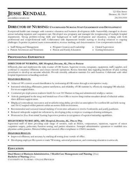 director of nursing resume sle resume my career