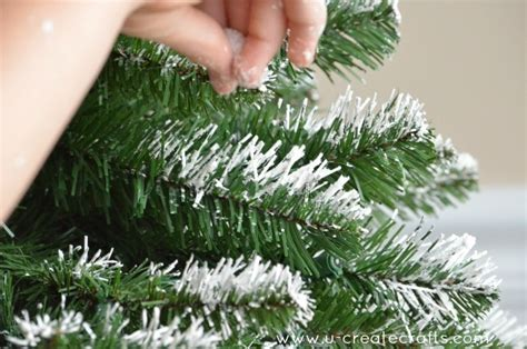 how to make artificial snow for christmas tree peppermint tree
