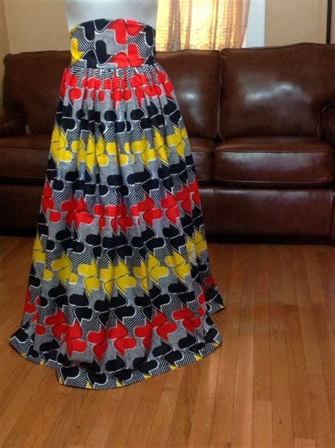 inspired high waist maxi skirt with laced up back