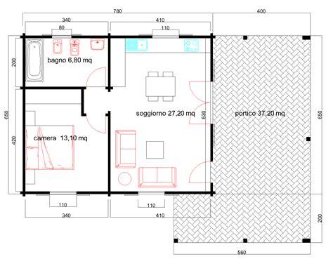 Progetto Casa 60 Mq by Progetti Di In Legno Casa 51 Mq Portico 37 Mq