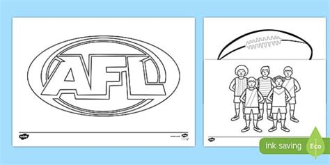 Afl Australian Football League Colouring Pages Colour In Afl Colouring In Pages