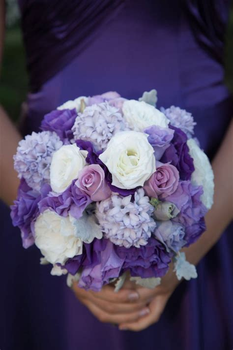Purple Wedding Flowers by Purple Wedding Flowers Tesselaar Flowers