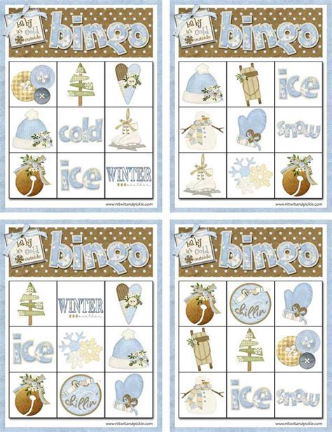 Winter Bingo Card Template by Winter Bingo Card Set 1 Northpolechristmas